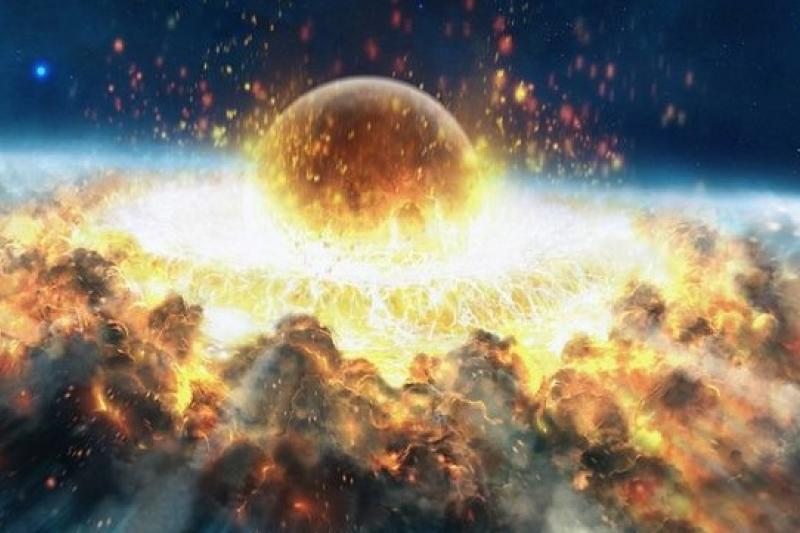 小行星撞地球,碎石化身生命太空船(取自網路)