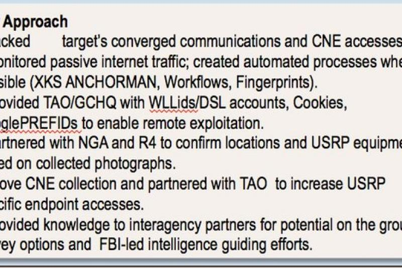 NSA運用網路廣告工具Cookie鎖定特定追蹤對象的通訊資料,圖片來源:華郵