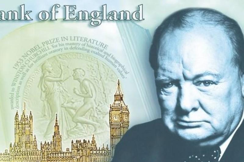 未來英國5英鎊塑膠鈔票採用英國前首相邱吉爾頭像