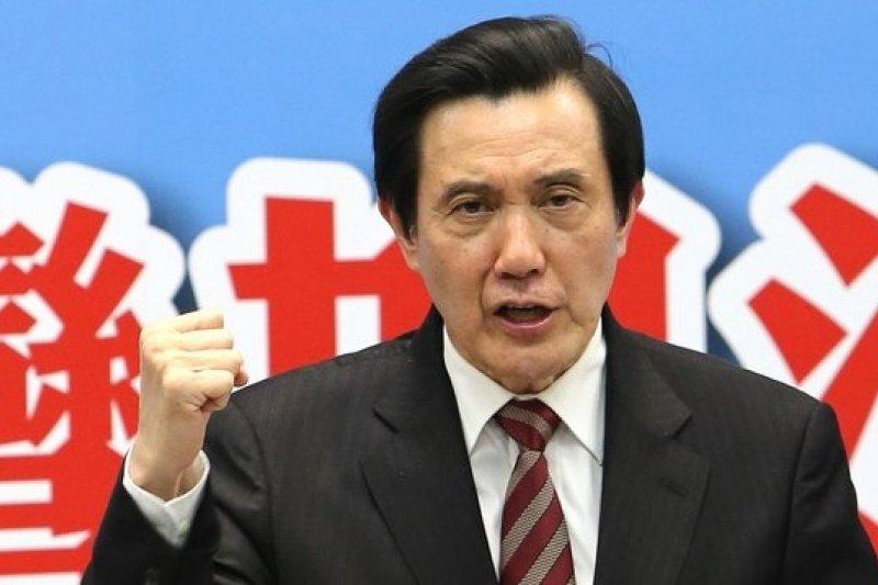 針對民進黨立委霸佔立法院主席台,馬英九批評是「少數霸凌多數」,也是政黨的墮落。(資料照片,吳逸驊攝)