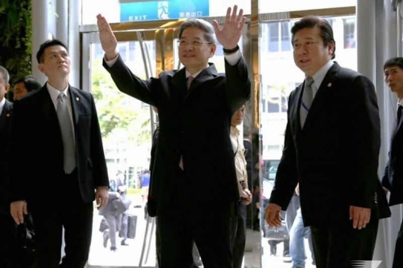 中國國台辦主任張志軍來訪,中國媒體中新網形容,這是「與台灣基層民眾接觸」。(余志偉攝)