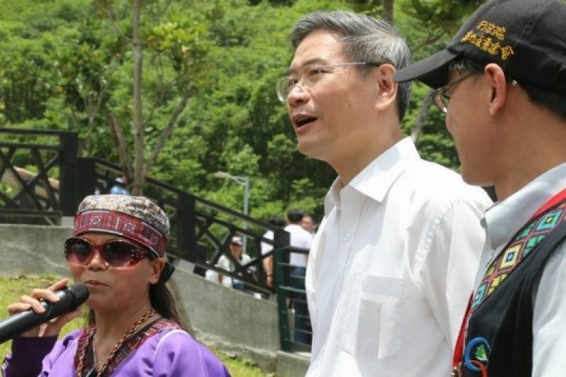 27日上午,國台辦主任張志軍在與高雄市長陳菊會晤之後,便前往小林村參訪。(吳逸驊攝)