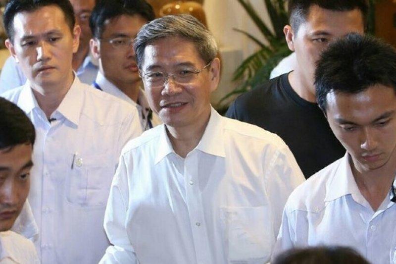 中國國台辦主任張志軍27日晚間與陸委會主委王郁琦茶敘後,對媒體表示,2人都認為應該要確保王張會的成果。(吳逸驊攝)