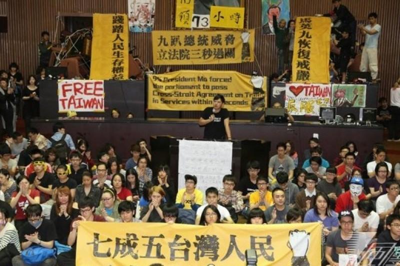 323反服貿學生攻佔行政院,江揆下令驅離引發流血憾事,讓4月份將舉行改制典禮的中科院保防單位繃緊神經。(余志偉攝)