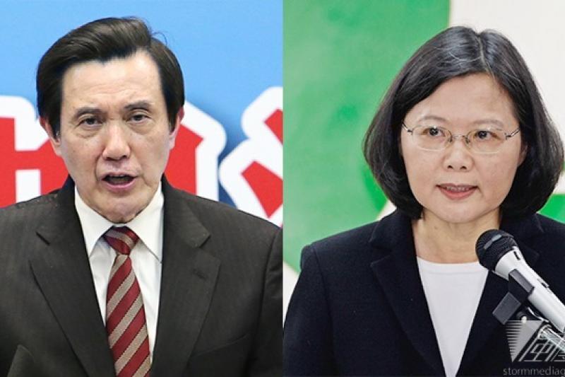 2012年總統大選,國民黨的馬英九與民進黨蔡英文戰況膠著,多數企業都選擇不贊助,兩邊不得罪。(影像合成:風傳媒)