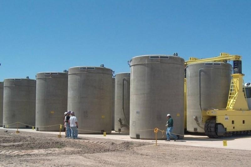核電廠乾式貯存設施未達使用年限就發生裂縫,國外已有先例。圖為美國Palo Verde 核電廠乾式貯存設施,非發生意外的核電廠。(取自原能會網站)