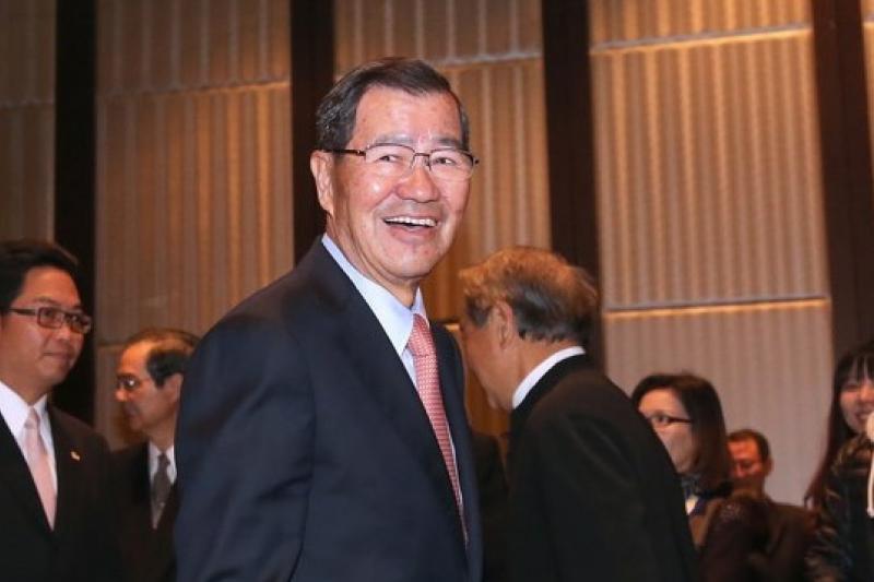 前副總統蕭萬長及TPP同為台灣沒有選擇中的選擇。(吳逸樺攝)