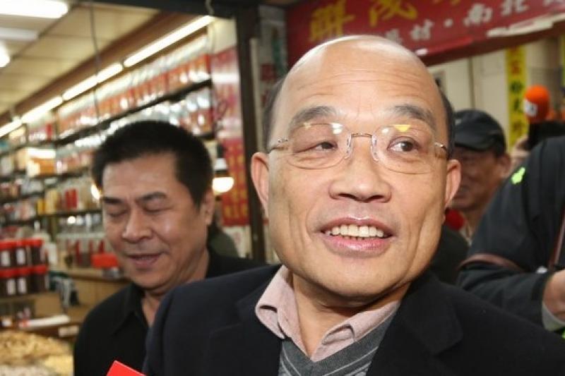 民進黨主席蘇貞昌的兩岸政策看不出論述重心何在(吳逸驊攝)