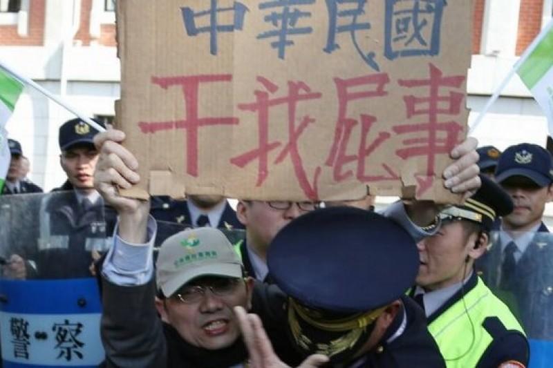 台教會抗議高中歷史課綱修改(吳逸驊攝)