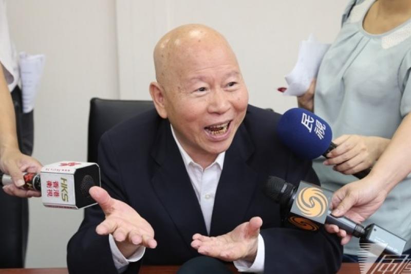 民進黨前主席許信良2日表示,張志軍訪台,可視為想要了解,甚至接受學運所呈現的台灣民意,他覺得這是中國很大的進步。(吳逸驊攝)