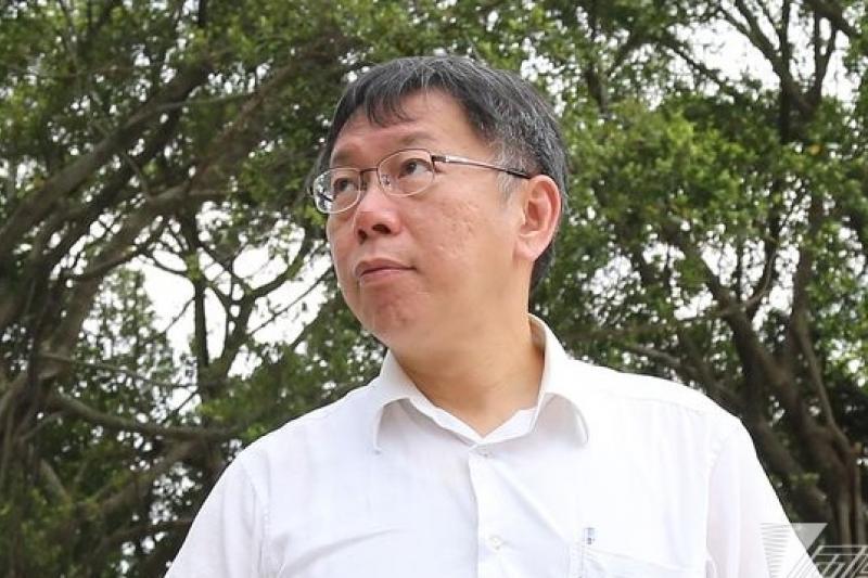 台北市長參選人柯文哲13日表示,競選演講宣傳理念比造勢晚會有意義。(資料照,吳逸驊攝)