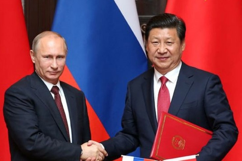 中俄發表聯合聲明,雙方結盟對美國的全球霸主地位是一大挑戰。(取自新華網)