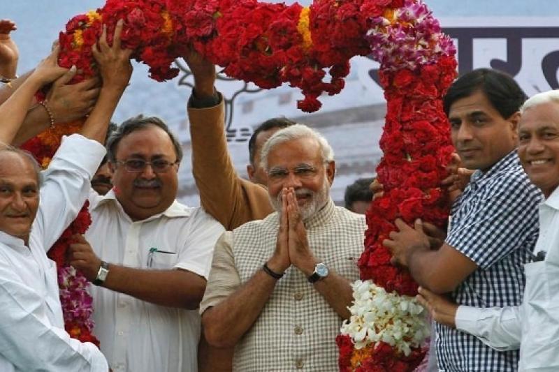上周結束第印度大選,在野的印度人民黨獲勝。方終結連續執政十年的國大黨,從印度看台灣,也有值得相互映照參考之處。(中新社)