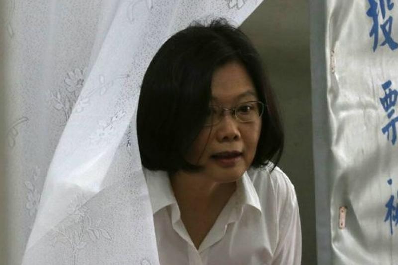 民進黨主席選舉,蔡英文輕騎過關,自由經濟示範區將她的第一項挑戰。(余志偉攝)