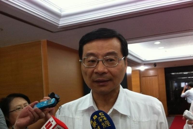 金管會主委曾銘宗今(17日)表示,金融業納入自由經濟示範區,實施半年已有顯著成效。(何孟奎攝)