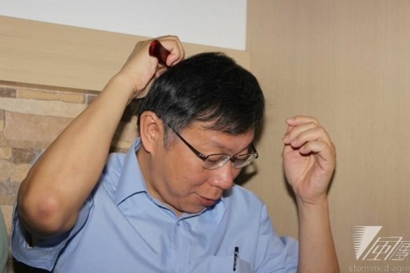 柯文哲今(19日)再推「柯P新政」第8支政策影片,宣示要推動公辦都更。(葉信菉攝)