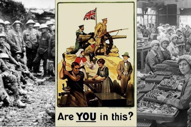 戰爭時期,參戰國宣傳多企圖擴大動員。(取自網路)