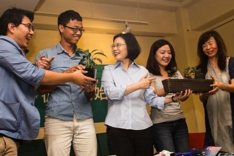 民進黨的「民主小草」、「青年議會」等方案,似乎比國民黨的「青年顧問團」更吸引年輕人。(資料照,林韶安攝)