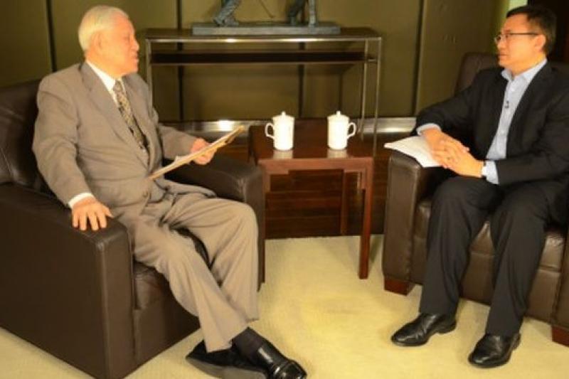 前總統李登輝接受BBC中文網專訪,談到希望有何歷史評價時表示,他只希望大家會說,「李登輝執政時,生活過得很好。」(取自BBC中文網)