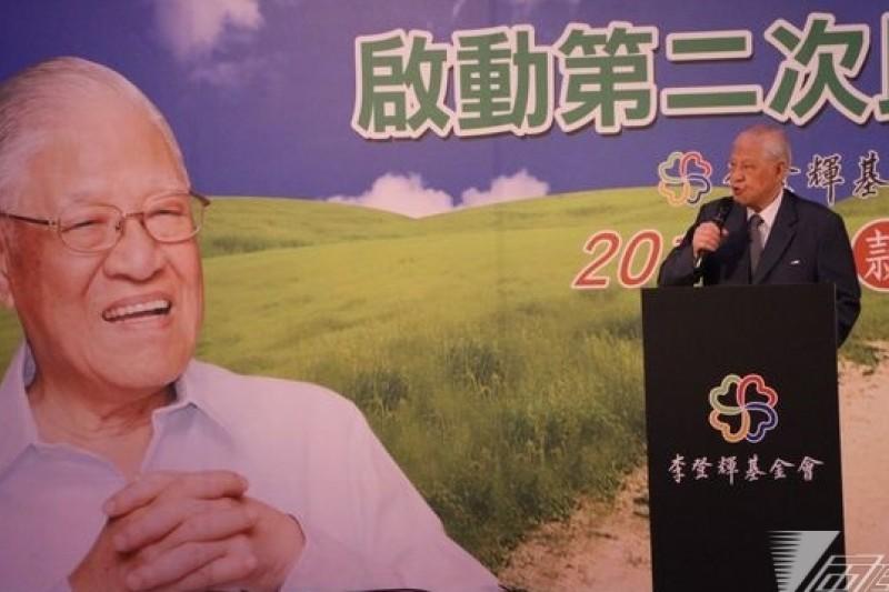 前總統李登輝訪日演講時說,「日本殖民剝台灣是彌天大謊。」(資料照/葉信菉攝)