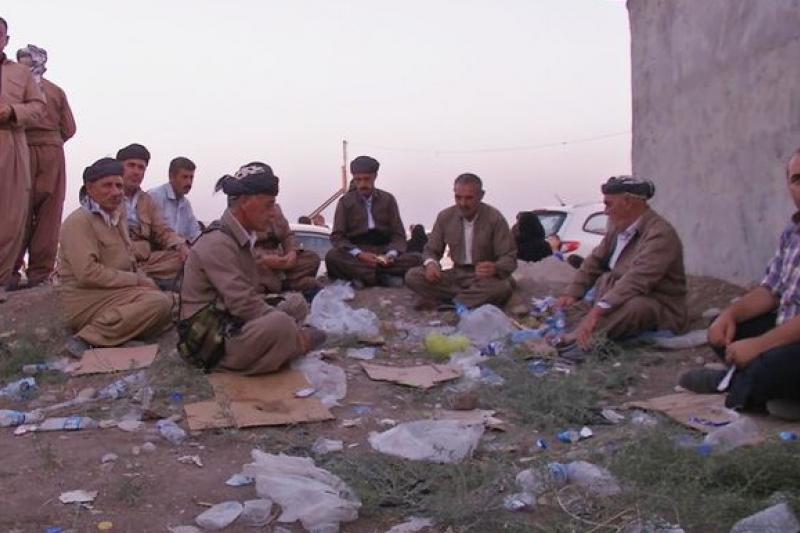 抵達艾比爾的亞茲迪難民坐困愁城(美聯社)