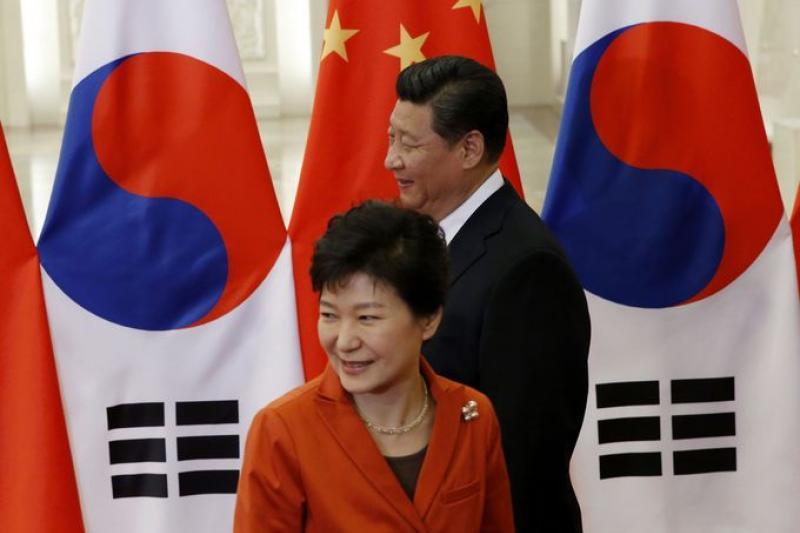 中韓達成FTA協議,對台灣製造業的衝擊將如原子彈。(美聯社)