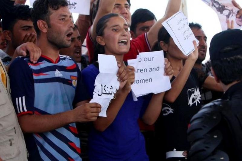 眼見同胞慘遭迫害,亞茲迪教派青年呼籲國際社會伸出援手。()