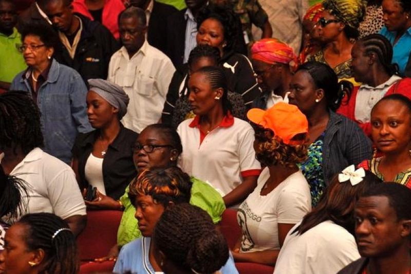 伊波拉疫情重災區賴比瑞亞的公衛人員(美聯社)