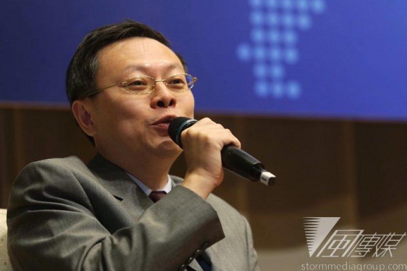王郁琦說,他是以領袖代表顧問身分參與APEC會議,因此預計要在APEC結束後、於12日與張志軍進行非正式會面,針對業務議題做盤點。(林韶安攝)