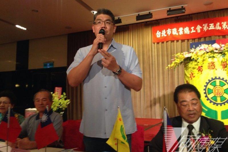 國民黨台北市長參選人連勝文19日出席台北市總工會活動。(羅暐智攝)