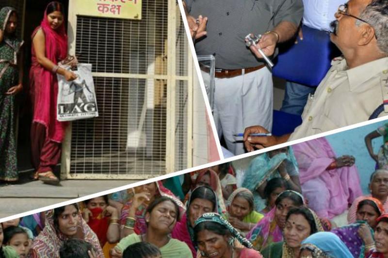印度推行免費節育(左上),卻導致15名婦人術後身亡、家庭破裂,但負責醫生(右上)監持無醫療疏失。(美聯社)