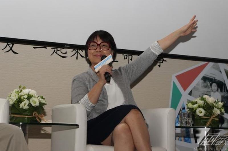 與江揆同進退的文化部長龍應台說,她要回到民間做支持政府的人。(資料照/葉信菉攝)