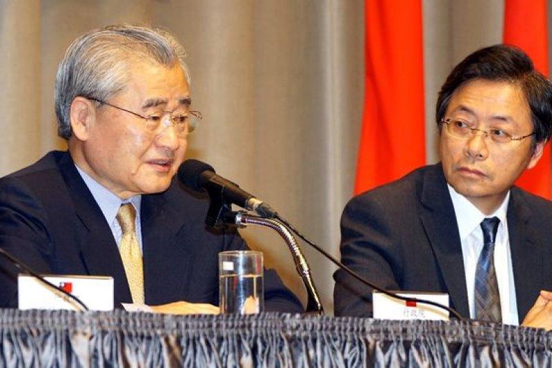 行政院長毛治國8日在臨時院會後表示,服貿貨貿爭議將先化解外界疑慮再討論相關配套。(蘇仲泓攝0
