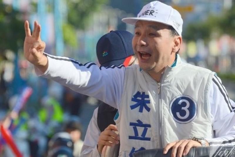 宣布參選國民黨黨主席的新北市長朱立倫(宋小海攝)