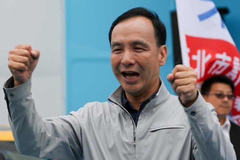 新北市長朱立倫決定投入國民黨黨主席選舉,並推內閣制修憲。(資料照片,余志偉攝)