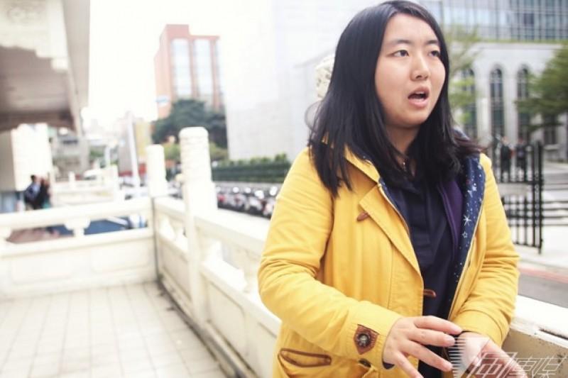 陸生蔡博藝參加《公民、青年與台灣選舉:兩岸青年的對話》座談會。(林韶安攝)