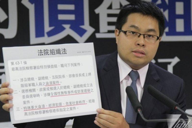 民進黨發言人黃帝穎22日表示,希望馬英九不要再將司法當作政治鬥爭工具。(資料照片,顏振凱攝)