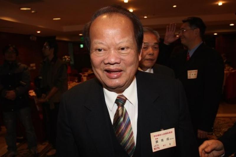 一生傳奇的前國大議長蘇南成在家中病逝,享壽78歲。(資料照片,吳逸驊攝)