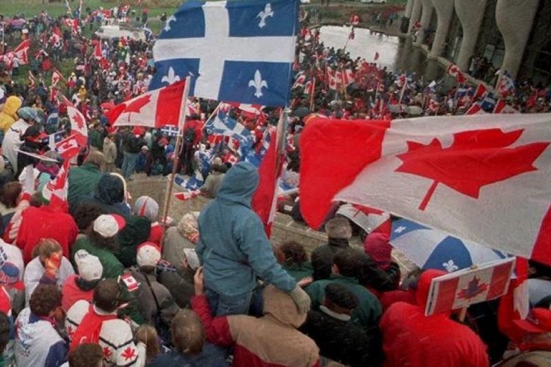 加拿大魁北克省1995年舉行獨立公投,結果獨派以些微差距落敗。(美聯社)