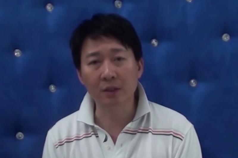 前中央廣播電台台長李猶龍加入連勝文競選團隊。(截取自youtube畫面)