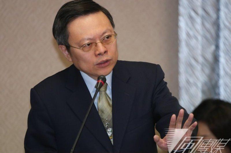 陸委會主委王郁琦24日在立法院接受質詢時表示,APEC邀請函上對總統的稱謂是「The Honorable Mister」,這是過去也曾使用過的國際慣例。(余志偉攝)