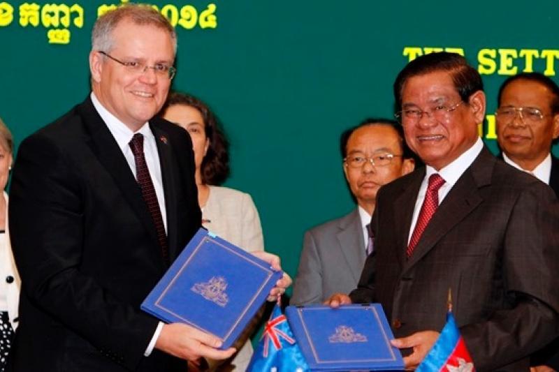 澳洲與柬埔寨26日簽訂轉置難民協議,但受到人權組織抨擊(美聯社)