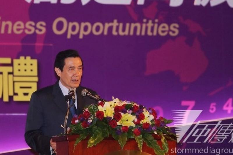 馬總統上午在出席世界台商總會的會議時表示,對於香港人民要求普選,「我們完全能理解、並且支持」。(林韶安攝)