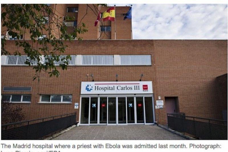 西班牙出現本土感染伊波拉病例。(報導截圖)
