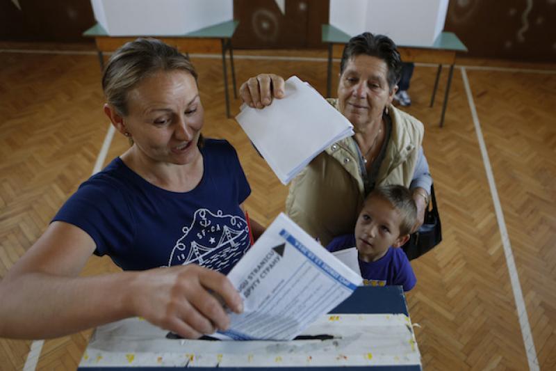 波士尼亞大選初步結果顯示,政治僵局或將持續。(美聯社)
