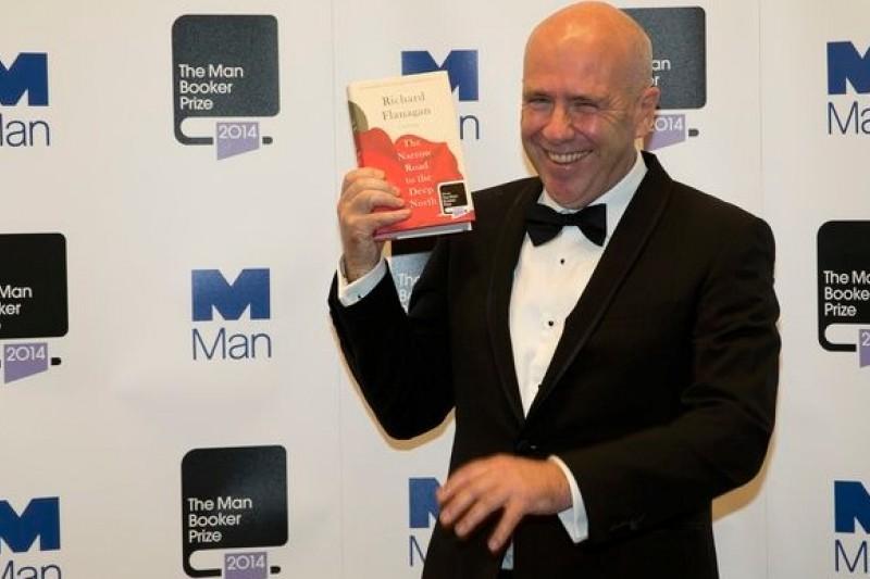 2014年曼布克獎得主、澳洲小說家弗拉納根(美聯社)