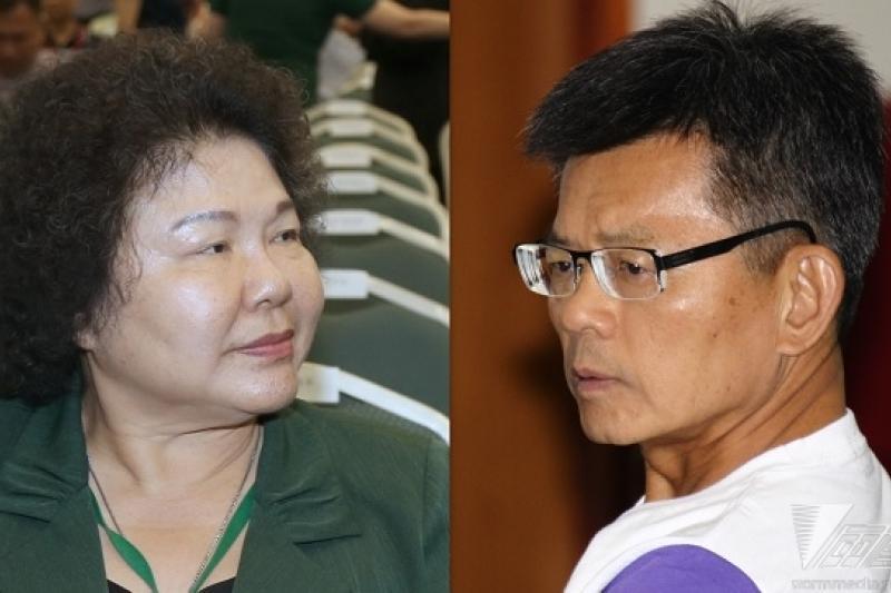 高雄市長選戰打得火熱,民進黨籍陳菊(左起)與國民黨籍楊秋興陣營紛紛遭爆料,聞得出濃濃火藥味。