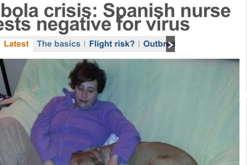 感染伊波拉的西班牙護士,傳出康復好消息。(新聞報導截圖)