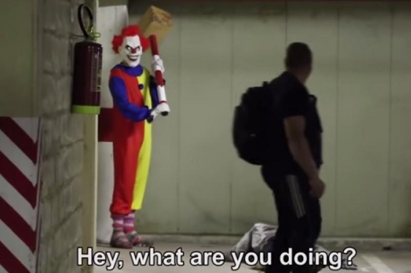 法國近來發生數起扮裝成小丑的惡作劇事件(YouTube)