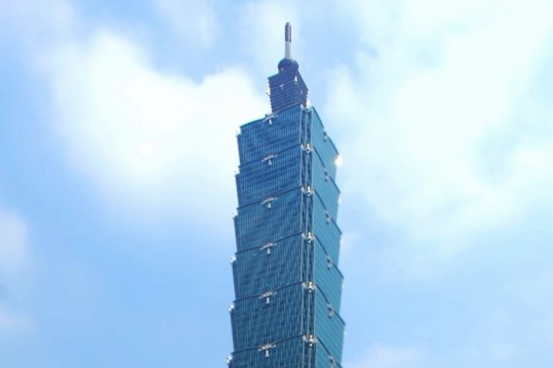 101大樓外觀。(蘇仲泓攝)